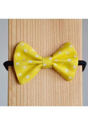 Mašlička žlutá s puntíky