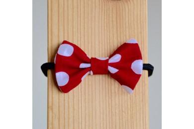 Mašlička červená s velkými puntíky