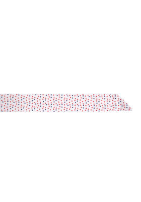 Bílý dámský motýlek s barevnými puntíky