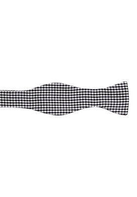 Černobílý kostkovaný pánský motýlek