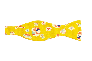 Pánský motýlek žlutý se symboly
