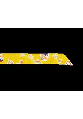 Dámský motýlek žlutý se symboly