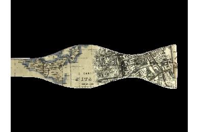 Pánský motýlek s potiskem mapy