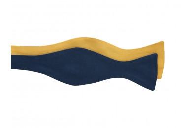 Oboustranný modro-žlutý motýlek pro pány