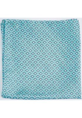 Tyrkysovy kapesníček s drobným vzorkem