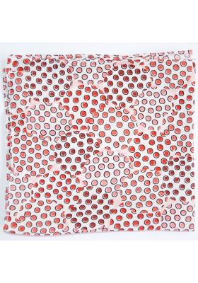 Bílý kapesníček s červenými puntíky