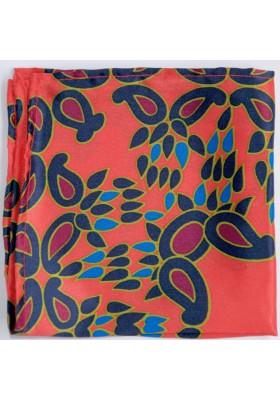 Světle červený kapesníček s orientálním vzorem