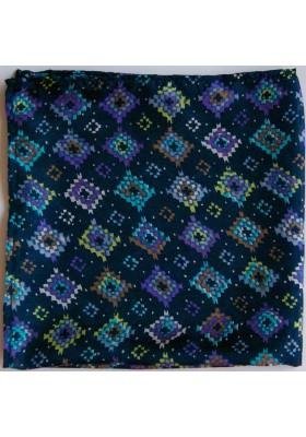 Modrý kapesníček s kosočtverci